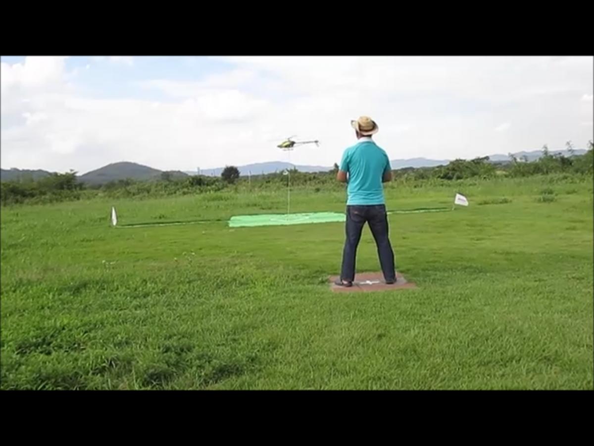 B級 静演技の練習其の1 ヘリの高さと位置をを確認してみた