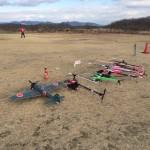 ついにラジコン飛行機が並びだした(^O^)